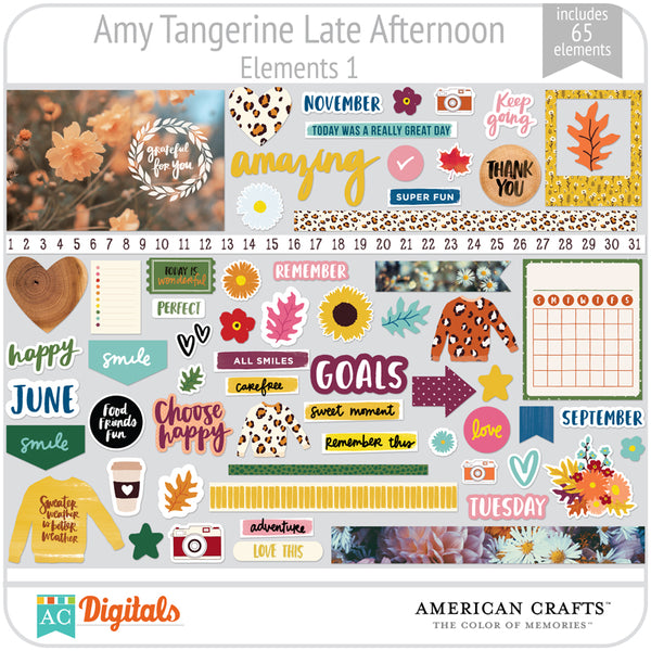 Amy Tangerine Late Afternoon Element Pack 1