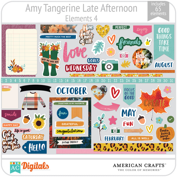 Amy Tangerine Late Afternoon Element Pack 4