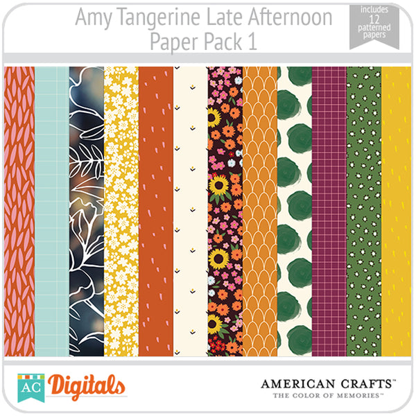 Amy Tangerine Late Afternoon Paper Pack 1
