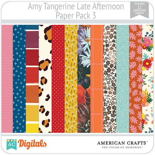 Amy Tangerine Late Afternoon Paper Pack 3
