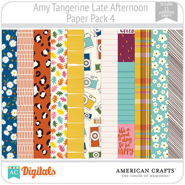 Amy Tangerine Late Afternoon Paper Pack 4