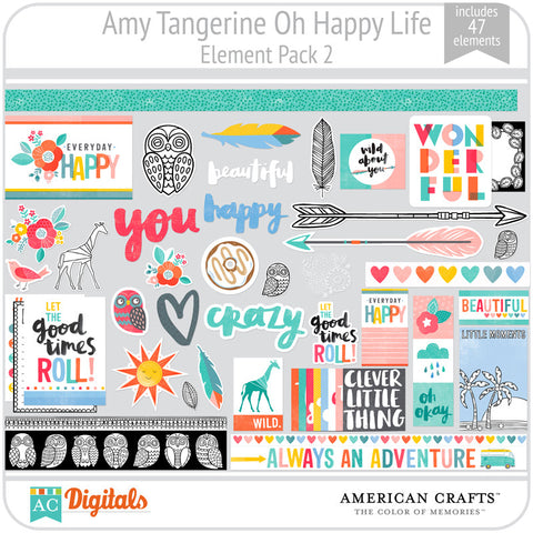 Amy Tangerine Oh Happy Life Element Pack 2