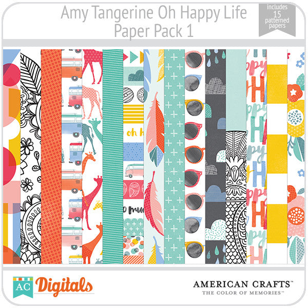 Amy Tangerine Oh Happy Life Paper Pack 1