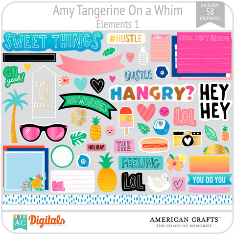Amy Tangerine On a Whim Element Pack 1