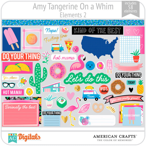 Amy Tangerine On a Whim Element Pack 2