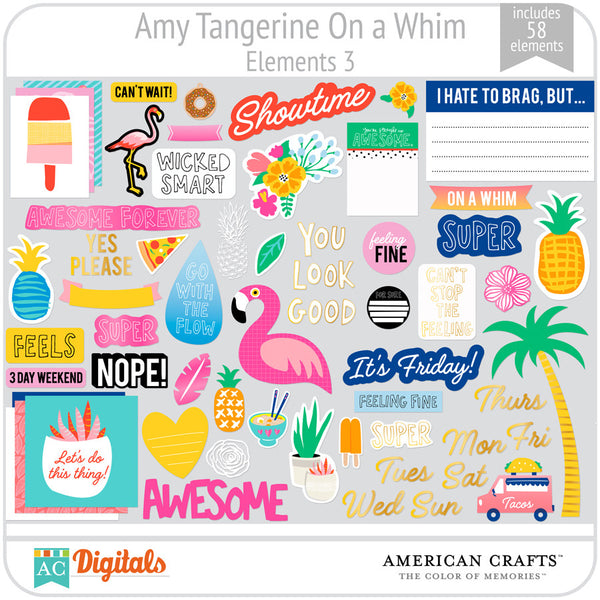 Amy Tangerine On a Whim Element Pack 3