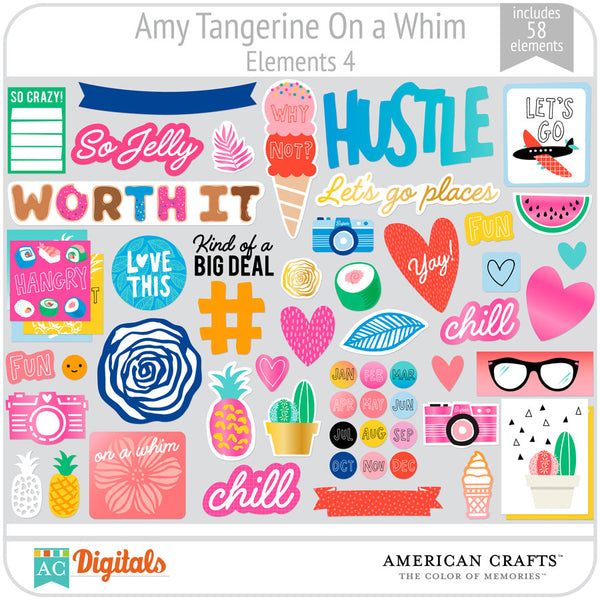Amy Tangerine On a Whim Element Pack 4