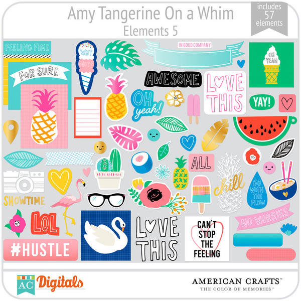 Amy Tangerine On a Whim Element Pack 5