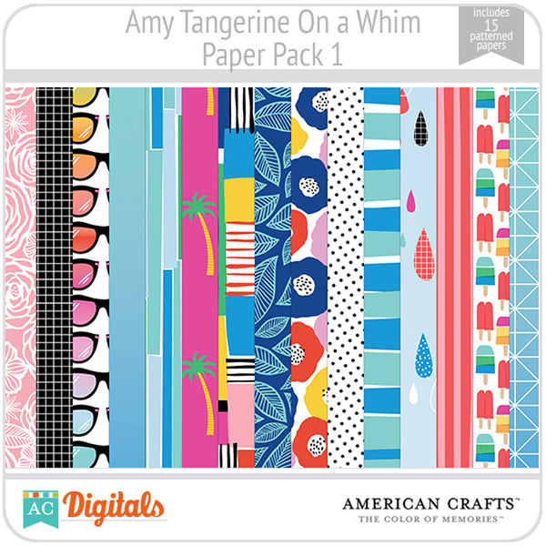 Amy Tangerine On a Whim Paper Pack 1