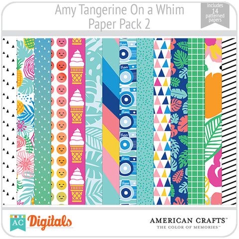 Amy Tangerine On a Whim Paper Pack 2