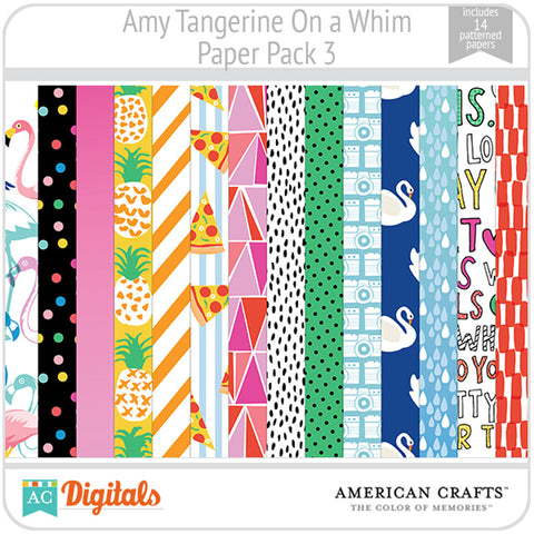 Amy Tangerine On a Whim Paper Pack 3