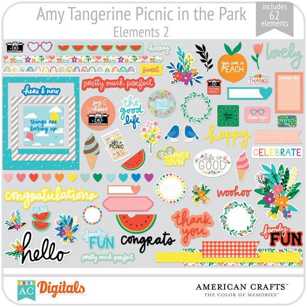 Amy Tangerine Picnic in the Park Element Pack 2
