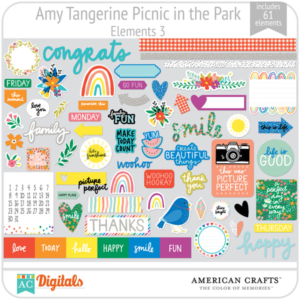 Amy Tangerine Picnic in the Park Element Pack 3