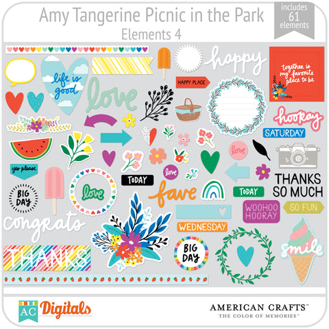 Amy Tangerine Picnic in the Park Element Pack 4