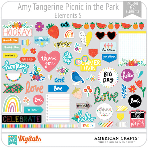 Amy Tangerine Picnic in the Park Element Pack 5