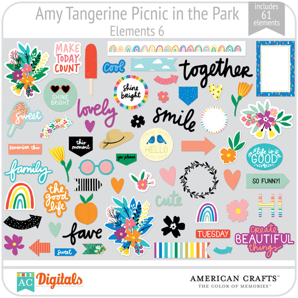 Amy Tangerine Picnic in the Park Element Pack 6