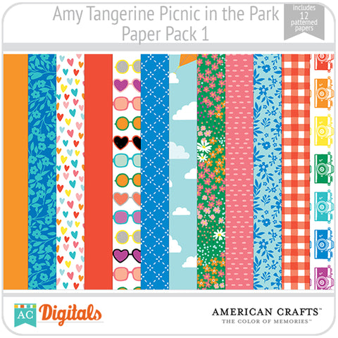 Amy Tangerine Picnic in the Park Paper Pack 1
