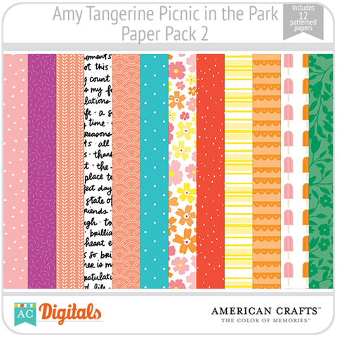Amy Tangerine Picnic in the Park Paper Pack 2