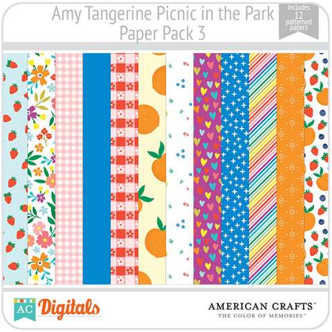 Amy Tangerine Picnic in the Park Paper Pack 3