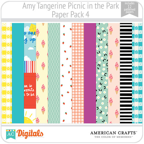 Amy Tangerine Picnic in the Park Paper Pack 4