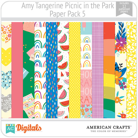 Amy Tangerine Picnic in the Park Paper Pack 5