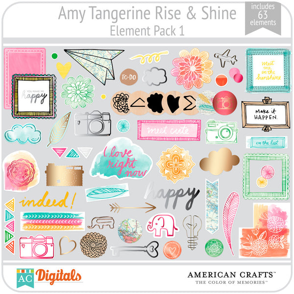 Amy Tangerine Rise & Shine Element Pack #1