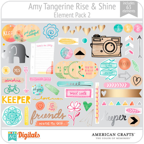 Amy Tangerine Rise & Shine Element Pack #2