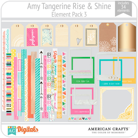 Amy Tangerine Rise & Shine Element Pack #3