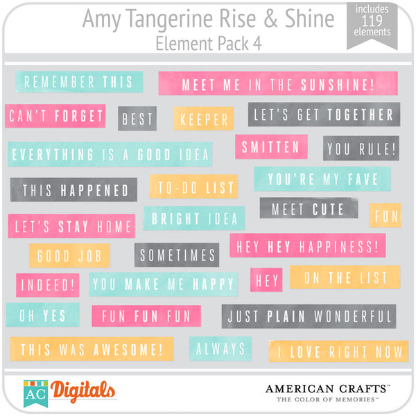 Amy Tangerine Rise & Shine Element Pack #4