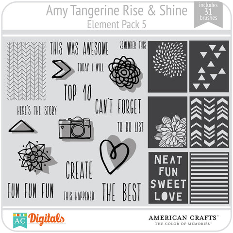 Amy Tangerine Rise & Shine Element Pack #5