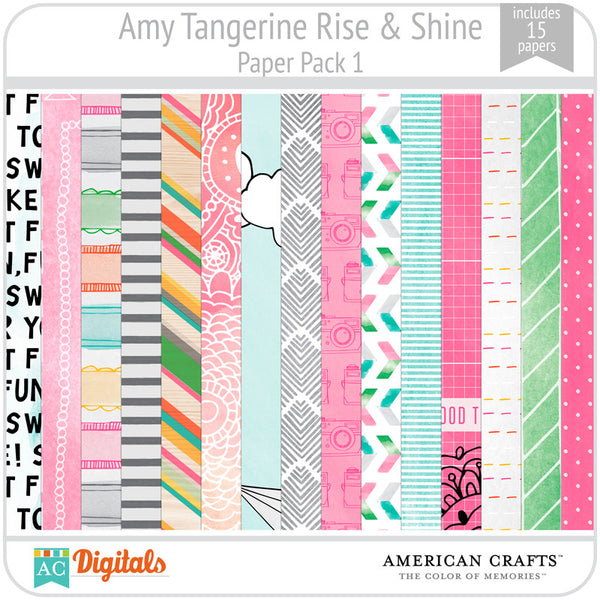 Amy Tangerine Rise & Shine Paper Pack #1