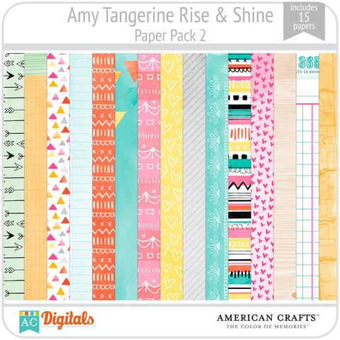 Amy Tangerine Rise & Shine Paper Pack #2