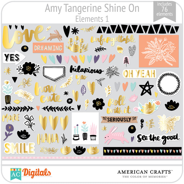 Amy Tangerine Shine On Element Pack 1