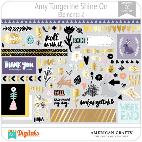 Amy Tangerine Shine On Element Pack 2