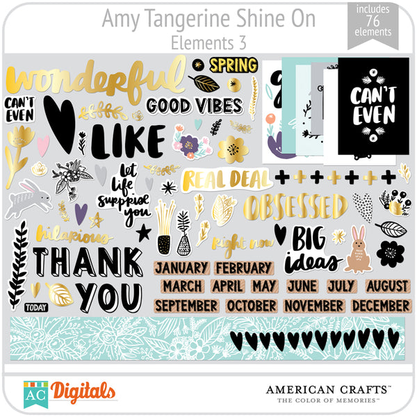 Amy Tangerine Shine On Element Pack 3