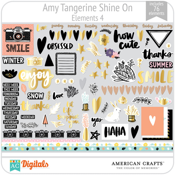 Amy Tangerine Shine On Element Pack 4