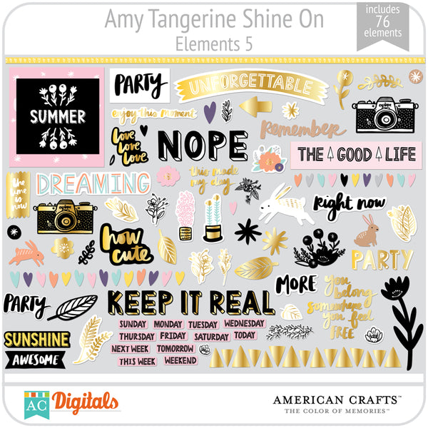 Amy Tangerine Shine On Element Pack 5