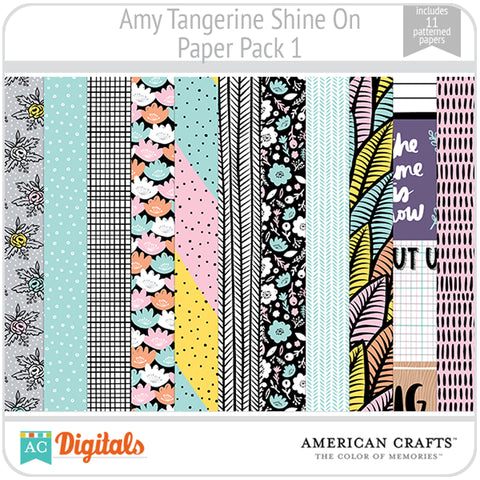 Amy Tangerine Shine On Paper Pack 1