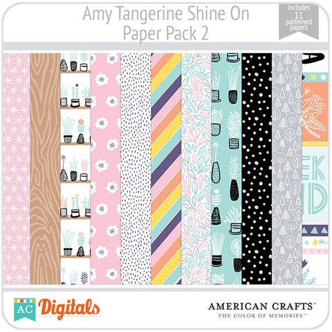 Amy Tangerine Shine On Paper Pack 2