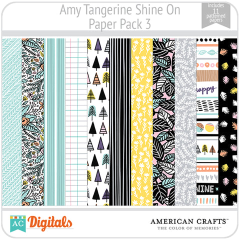 Amy Tangerine Shine On Paper Pack 3