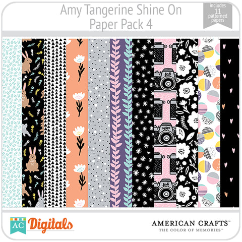 Amy Tangerine Shine On Paper Pack 4