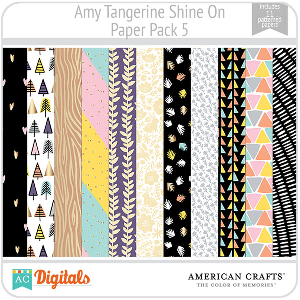 Amy Tangerine Shine On Paper Pack 5