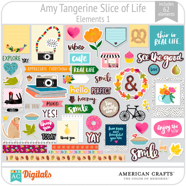 Amy Tangerine Slice of Life Element Pack #1