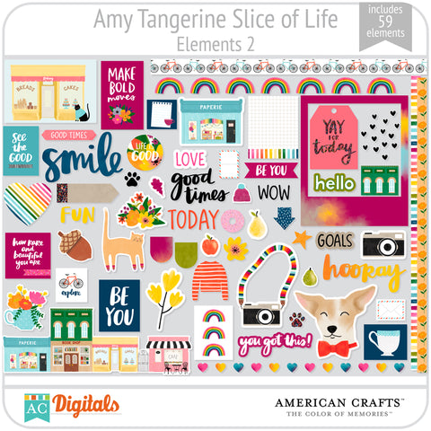 Amy Tangerine Slice of Life Element Pack #2