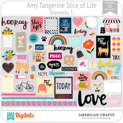 Amy Tangerine Slice of Life Element Pack #3
