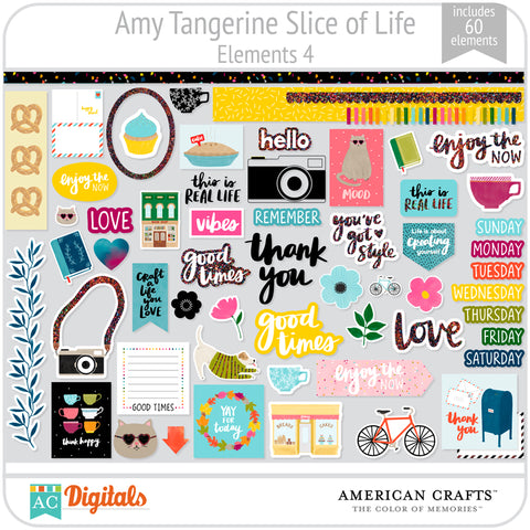 Amy Tangerine Slice of Life Element Pack #4