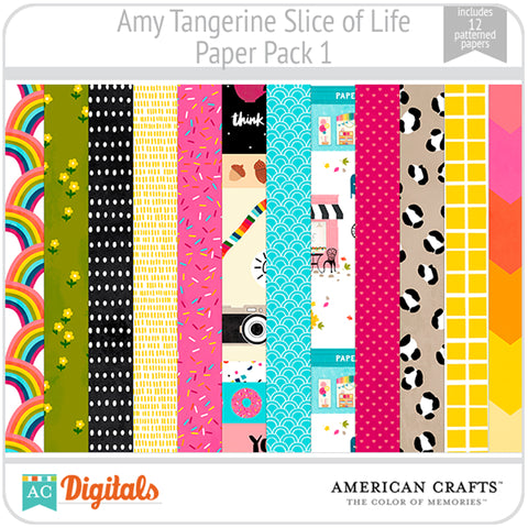 Amy Tangerine Slice of Life Paper Pack #1