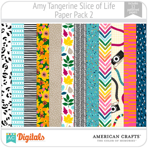 Amy Tangerine Slice of Life Paper Pack #2
