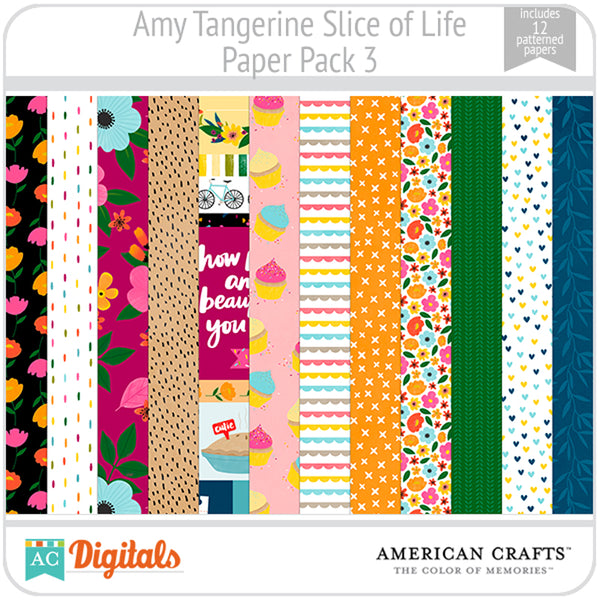 Amy Tangerine Slice of Life Paper Pack #3