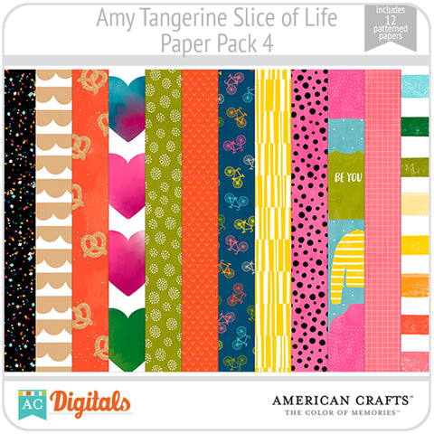 Amy Tangerine Slice of Life Paper Pack #4